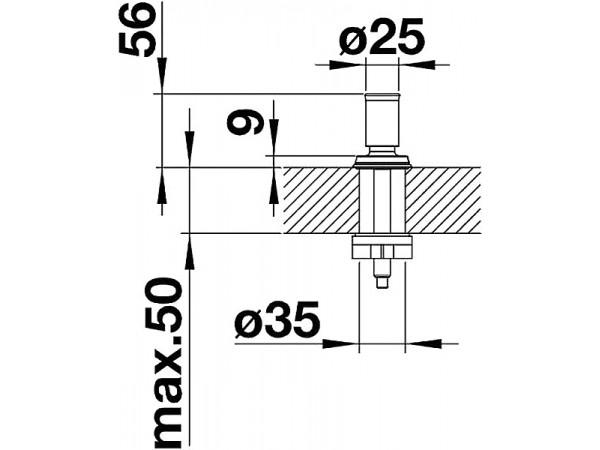 Ручка управления клапаном-автоматом Blanco Livia Манган