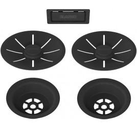 Набор декоративных элементов C-overflow и InFino® в черном матовом цвете (две чаши) 239979