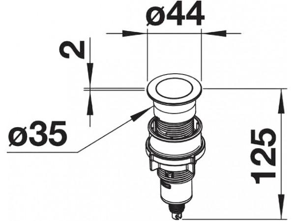 Кнопка управления клапаном-автоматом Blanco Push Control