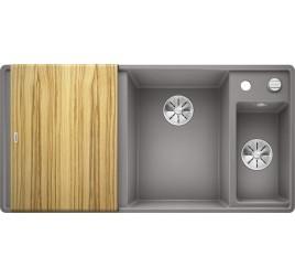 Мойка Blanco Axia III 6 S-F Алюметаллик (чаша справа) SilGranit 523485, , 76050 ₽, 523485, Axia III 6 S-F чаша справа, Мойки для кухни