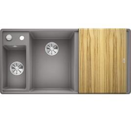 Мойка Blanco Axia III 6 S-F Алюметаллик (чаша слева) SilGranit 524665, , 76050 ₽, 524665, Axia III 6 S-F чаша слева, Мойки для кухни