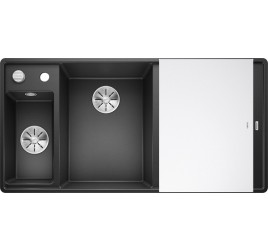 Мойка Blanco Axia III 6 S-F Антрацит (чаша слева), , 65250 ₽, 524669, Axia III 6 S-F чаша слева, Мойки для кухни