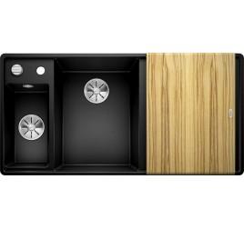 Мойка Blanco Axia III 6 S-F Черный (чаша слева) SilGranit 525853, , 76050 ₽, 525853, Axia III 6 S-F чаша слева, Мойки для кухни