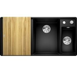 Мойка Blanco Axia III 6 S-F Черный (чаша справа) SilGranit 525855, , 76050 ₽, 525855, Axia III 6 S-F чаша справа, Мойки для кухни
