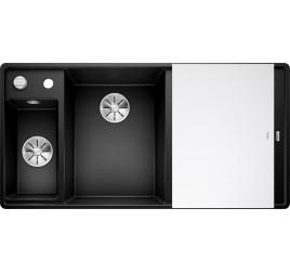 Мойка Blanco Axia III 6 S-F Черный (чаша слева), , 65250 ₽, 525852, Axia III 6 S-F чаша слева, Мойки для кухни