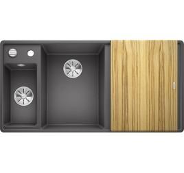Мойка Blanco Axia III 6 S-F Темная скала (чаша слева) SilGranit 524664, , 76050 ₽, 524664, Axia III 6 S-F чаша слева, Мойки для кухни