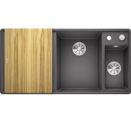 Мойка Blanco Axia III 6 S-F Темная скала (чаша справа) SilGranit 523484, , 76050 ₽, 523484, Axia III 6 S-F чаша справа, Мойки для кухни