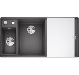 Мойка Blanco Axia III 6 S-F Темная скала (чаша слева), , 65250 ₽, 524670, Axia III 6 S-F чаша слева, Мойки для кухни