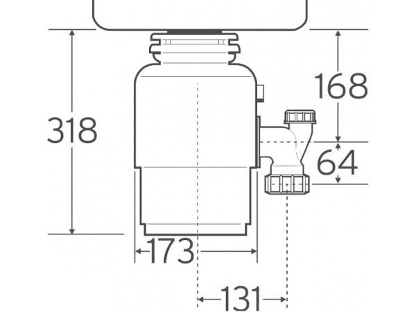 Измельчитель пищевых отходов In Sink Erator 56