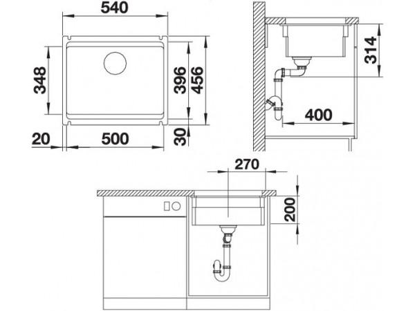 Мойка Blanco Etagon 500-U Керамика PuraPlus Глянцевый магнолия 525150