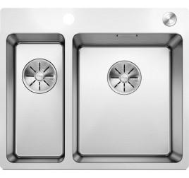 Мойка Blanco Andano 340/180-IF/A Cталь полированная, , 43450 ₽, 522996, Andano 340/180-IF/A, Мойки для кухни
