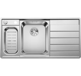 Мойка Blanco Axis III 6 S-IF Сталь с зеркальной полировкой, , 43736 ₽, 522105, Axis III 6 S-IF чаша слева, Мойки для кухни