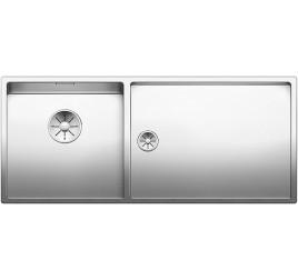 Мойка Blanco Claron 400/550-T-IF Сталь с зеркальной полировкой, , 96380 ₽, 521599, Claron 400/550-T-IF чаша слева, Мойки для кухни