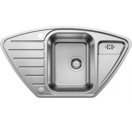 Мойка Blanco Lantos 9 E-IF Cталь полированная, , 17573 ₽, 516277, Lantos 9 E-IF, Мойки для кухни
