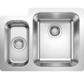 Мойка Blanco Supra 340/160-IF Cталь полированная, , 35200 ₽, 523366, Supra 340/160-IF, Мойки для кухни