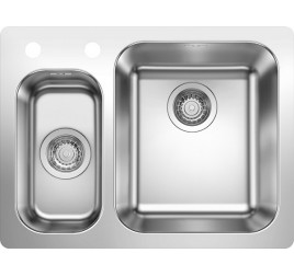 Мойка Blanco Supra 340/160-IF/A Cталь полированная, , 33200 ₽, 523367, Supra 340/160-IF/A, Мойки для кухни