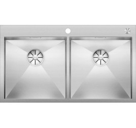 Мойка Blanco Zerox 400/400-IF/A Сталь с зеркальной полировкой, , 76630 ₽, 521648, Zerox 400/400-IF/A, Мойки для кухни