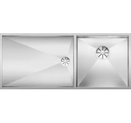 Мойка Blanco Zerox 400/550-T-IF Сталь с зеркальной полировкой, , 79000 ₽, 521604, Zerox 400/550-T-IF чаша справа, Мойки для кухни