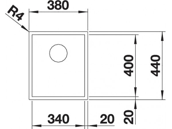 Мойка Blanco Zerox 340-U Durinox