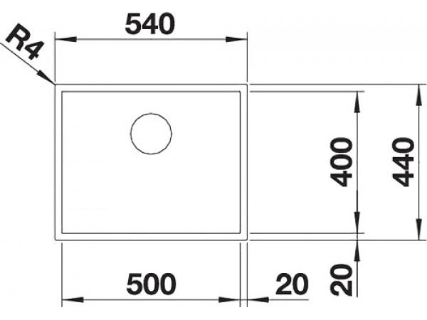 Мойка Blanco Zerox 500-U Durinox