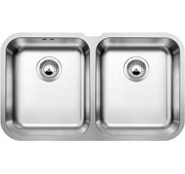 Мойка Blanco Supra 340/340-U Cталь полированная, , 24960 ₽, 519716, Supra 340/340-U, Мойки для кухни