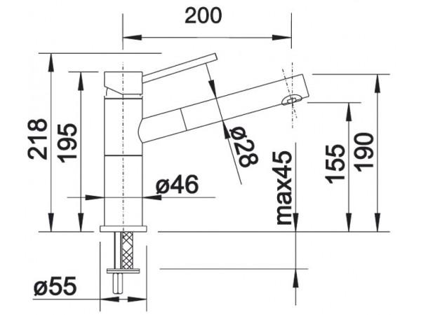 Смеситель Blanco Alta-S compact Антрацит