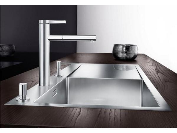 Смеситель Blanco Linee-S Нержавеющая сталь с зеркальной полировкой