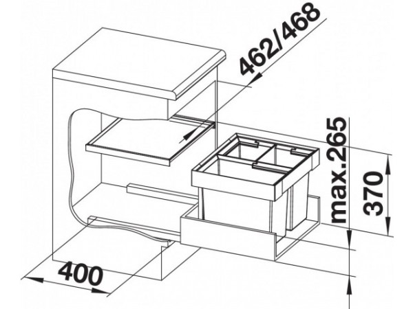 Сортировка Blanco Flexon II 50/3