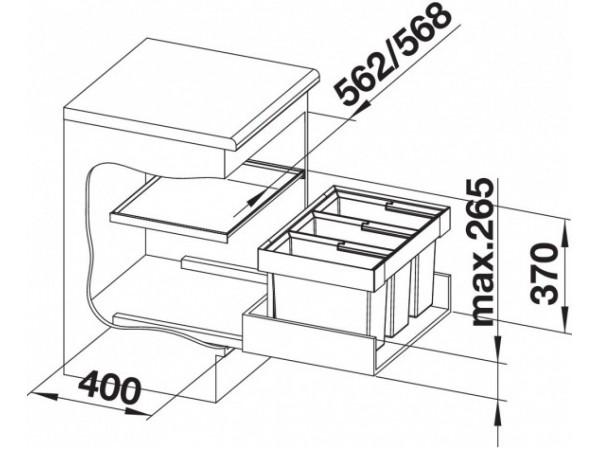 Сортировка Blanco Flexon II 60/3