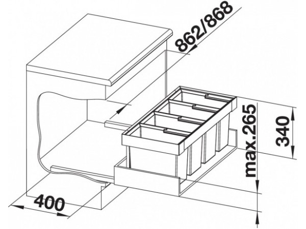 Сортировка Blanco Flexon II 90/4